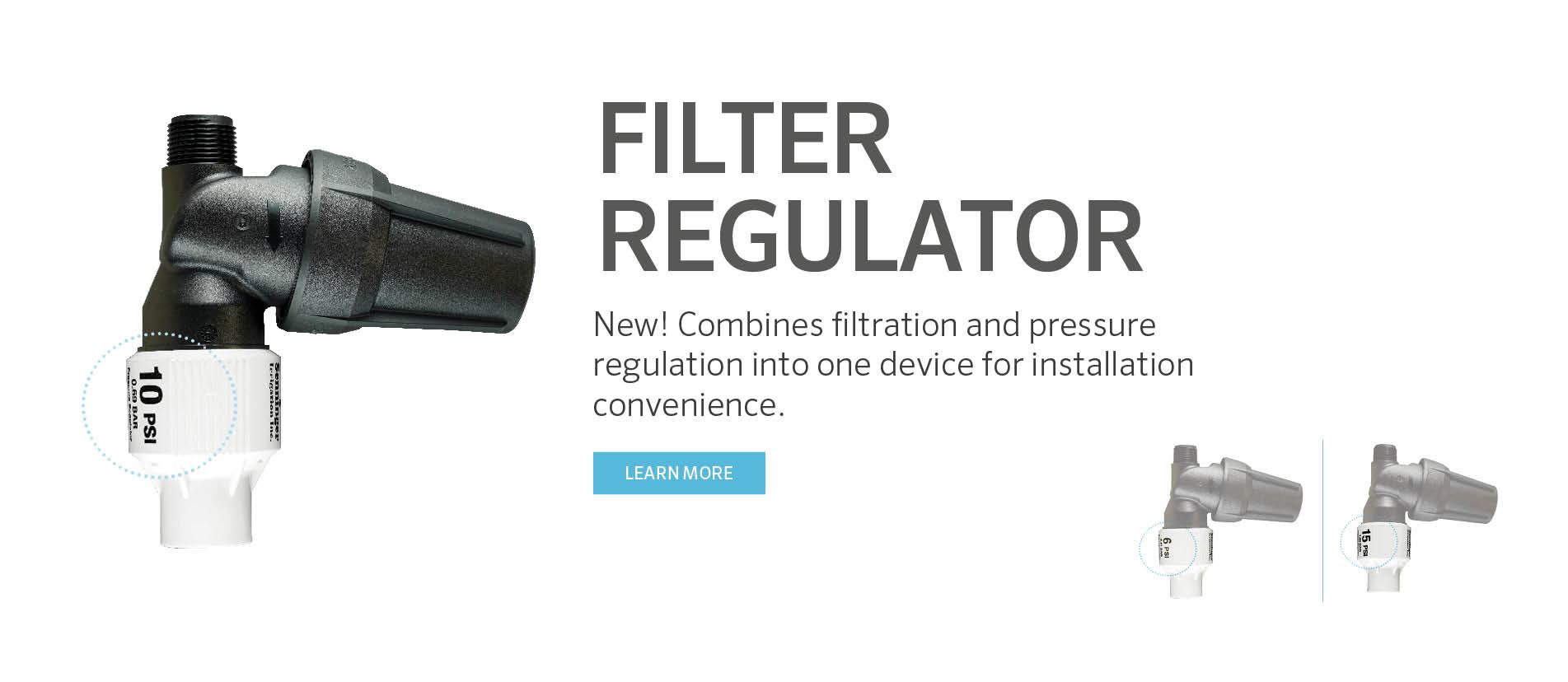 Filter Regulator combines filtration and pressure regulation into one device