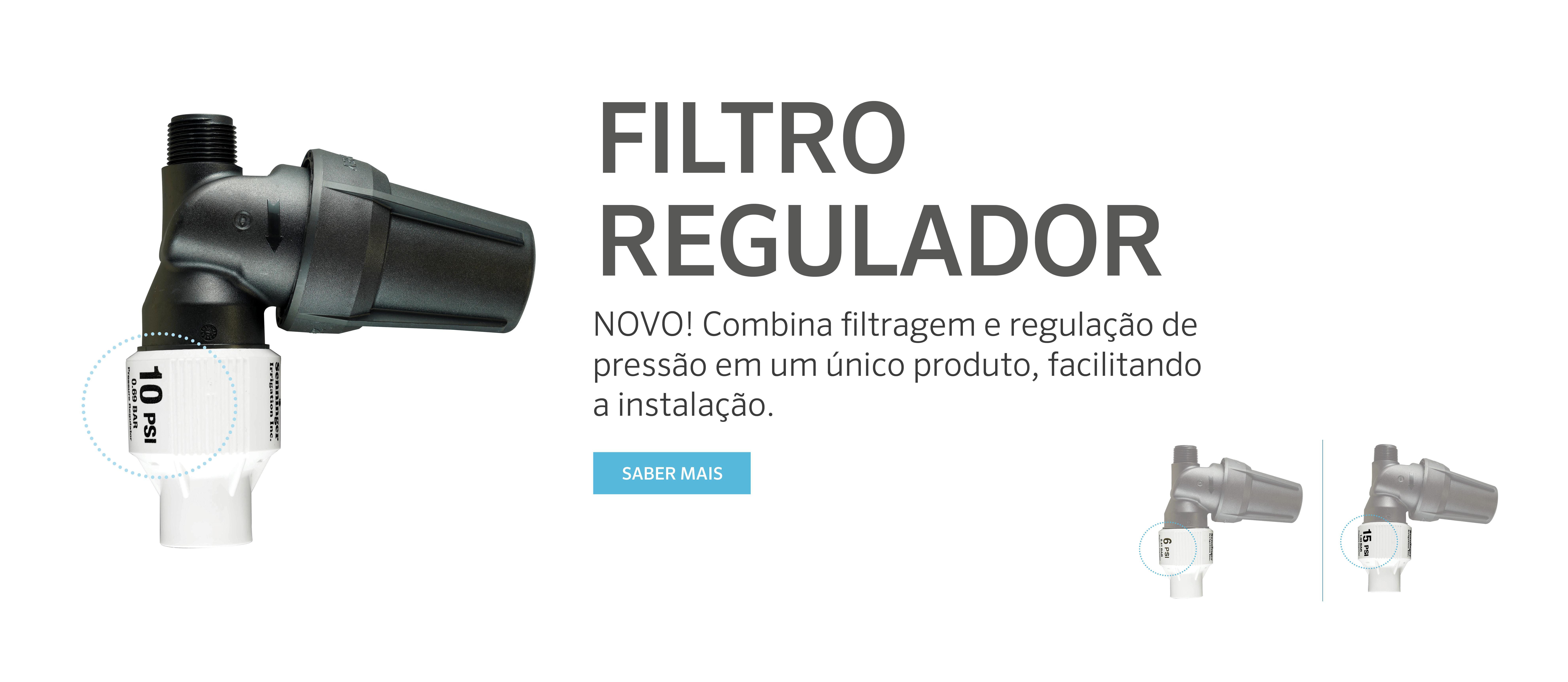 Regulador com filtro combina filtragem e regulação de pressão em um único dispositivo
