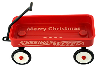 Christmas ornament - Senninger-Flyer red wagon
