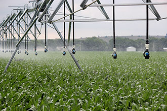 Pivot irrigation with Xi-Wob sprinklers