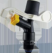 Senninger Wedge Drive Impact Sprinkler-Trajectory:23 degree-Nozzle:#9 Gray