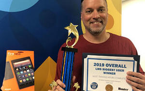 """Tim Luz was announced as the """"Overall Biggest User"""" for most training hours completed"""