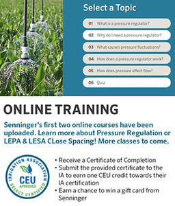 New Online Training Courses for Irrigation Professionals