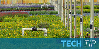 The correct pressure is key for irrigation efficiecy